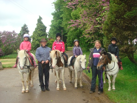 Family riding holiday in Berkshire