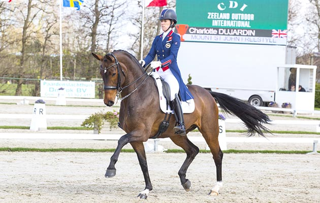 Charlotte Dujardin wins on international debut with WEG-bound mare
