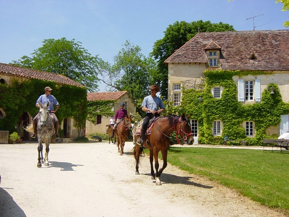 Riding in the Dordogne
