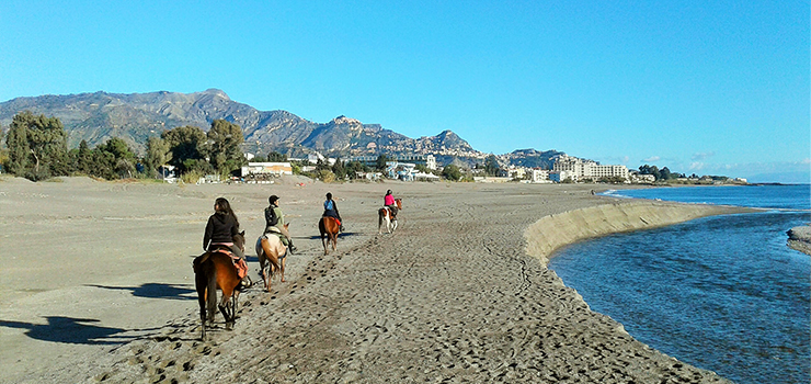Riding On The Beach In Sicily
